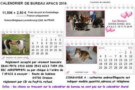 Apacs page 7 - Calendrier sur le bureau ...
