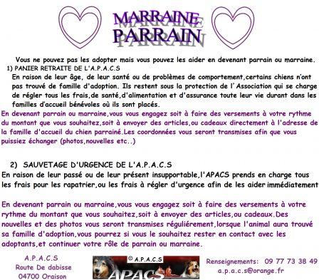 Extrêmement PARRAIN MARRAINE MODE D'EMPLOI - APACS : Association Pour les Amis  IS77